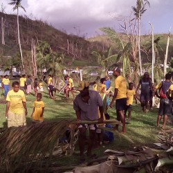 volunteer-ministers-clean-up-village small